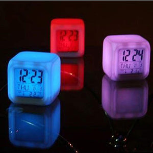 Buy 7 LED Colors Digital Clock from Castookie Free Worldwide Shipping