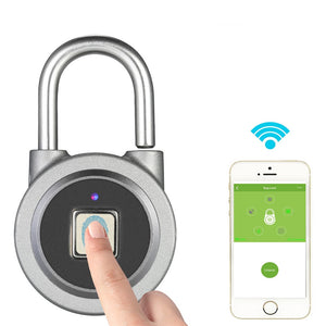 Buy Fingerprint Smart Keyless Lock Waterproof APP Button Password Unlock Anti-Theft Padlock Door Lock for Android iOS System from Castookie Free Worldwide Shipping