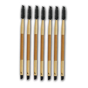 Buy 1pcs Eyelash Eyebrow Brush Makeup Brush Bamboo Handle Double Head Brush Pro Eye Lash Eye Brow Brush Cosmetic Makeup Beauty Tools from Castookie Free Worldwide Shipping