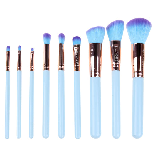 Buy Man-made Fiber Makeup Brush - 9pcs from Castookie Free Worldwide Shipping