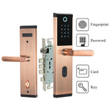 Buy Digital Biometric Fingerprint Keyless Smart Door Lock [Fingerprint+Password+RFID Card+Key Unlocking 4 Ways] from Castookie Free Worldwide Shipping