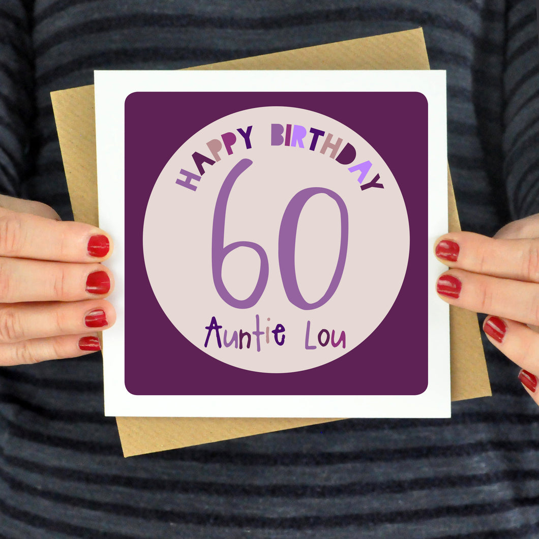 Personalised Any Age Birthday Card