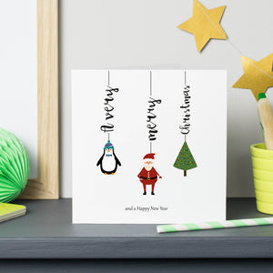 Personalised Christmas Character Cards