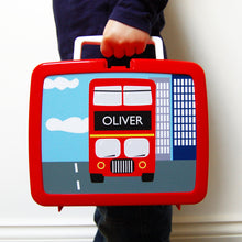 Personalised Red Bus Lunch Box