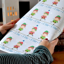 Little Christmas Elf Personalised Wrapping Paper