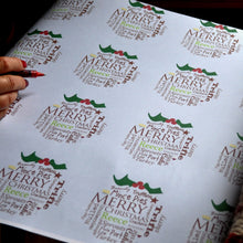 Personalised Pudding Christmas Wrapping Paper