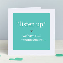 Pregnancy Family Announcement Card