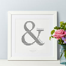Personalised Couple Ampersand Print