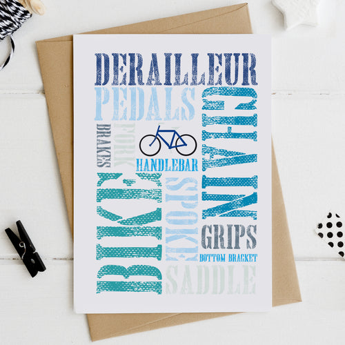 Cycling, Mountain Biking Birthday or Father's Day Card