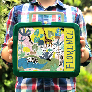 Personalised Wild Animal Retro Lunch Box