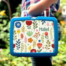 Personalised Scandi Flowers hygienic plastic lunch box