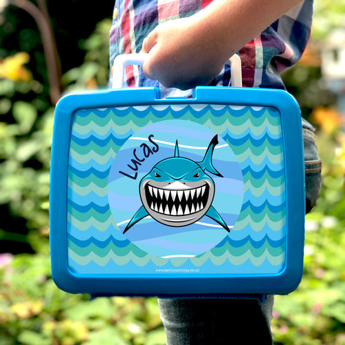 Shark personalised plastic hygienic lunchbox