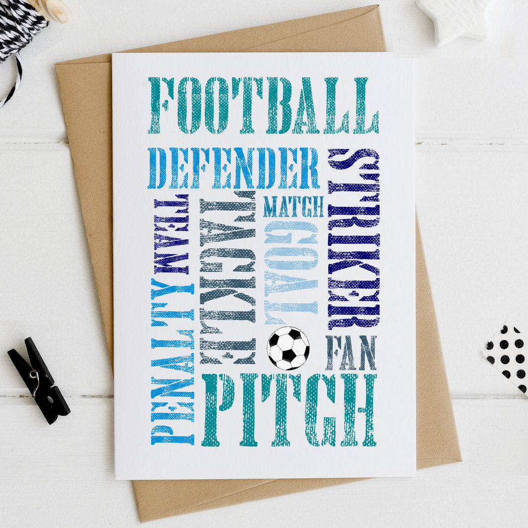Football Card for Birthday, Father's Day, Brother or Uncle