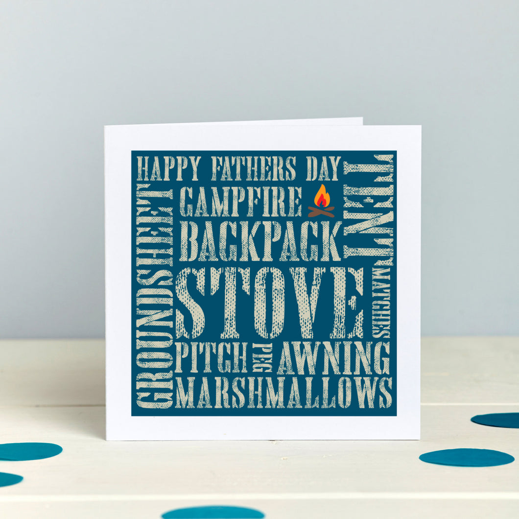Adventuring Camping Outdoors Father's Day card