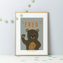 New Baby Tweed Teddy Gift Print