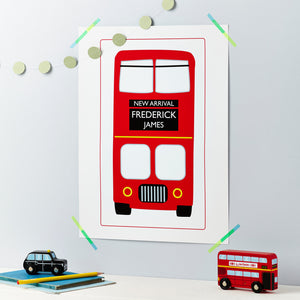 New Baby Red London Bus Print