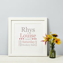 Personalised Engagement Gift Print