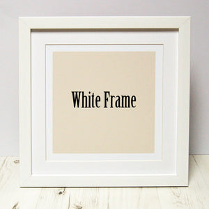 Spotty N Stripy Square Frames in White, Black and Oak
