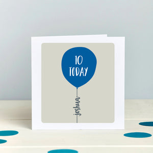 Any Age Personalised Birthday Balloon Card