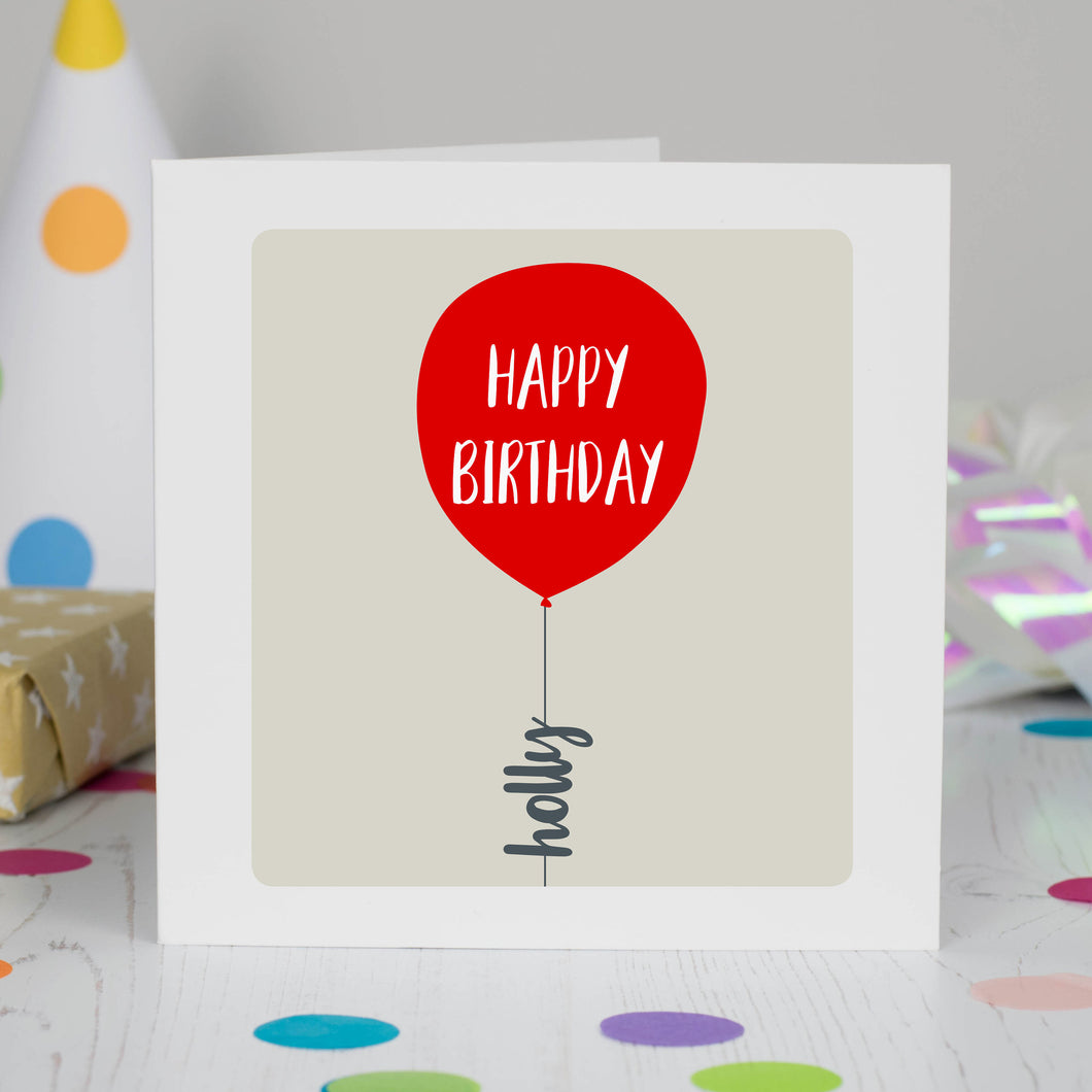 Personalised Birthday Balloon Card