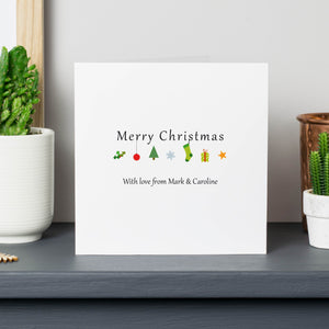 Personalised Christmas Icons Cards
