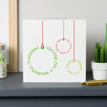 Personalised Bauble Christmas Cards
