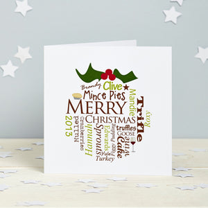 Christmas Pudding Personalised Card Pack