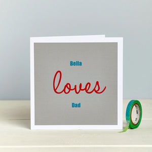 Love Dad Father's Day Birthday Card