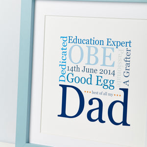 Father's Day Gift - Dad Word Art Print