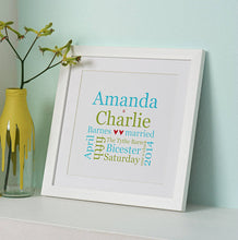 Personalised Wedding Typographic Gift Print