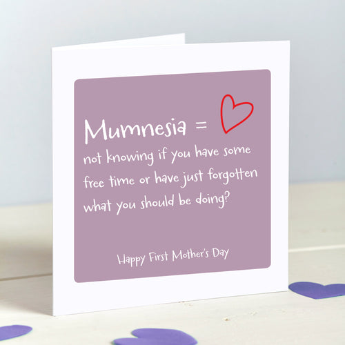 Mother's Day Mumnesia - Forgetful New Mum card