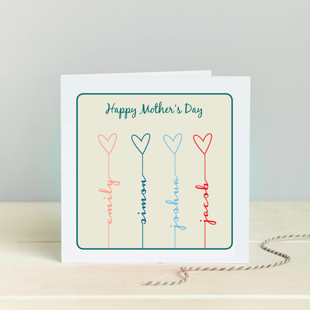 Heart Family Mother's Day Card