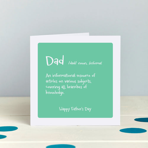 Humorous Father's Day Knowledge Encyclpedia Card