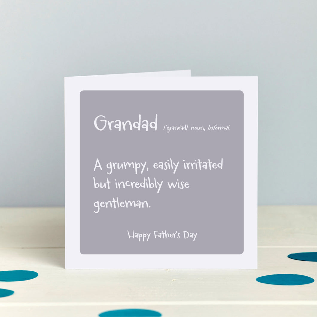 Humorous Card for a Grandfather