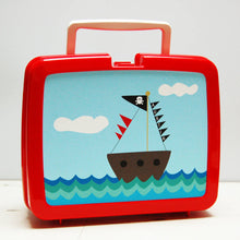 Pirate boat plastic hygienic personalised Lunch Box