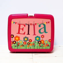 Flowers personalised hygienic plastic lunch box