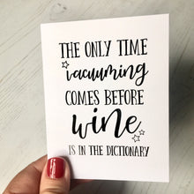 Wine lover funny card