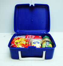 Hygenic retro style lunch box - plastic with carry handle