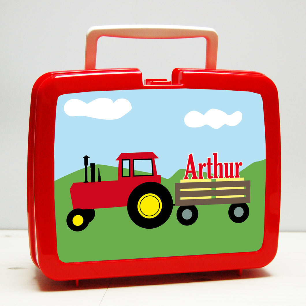 Personalised Tractor Lunch Box