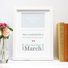 Personalised First Wedding Dance Song Print