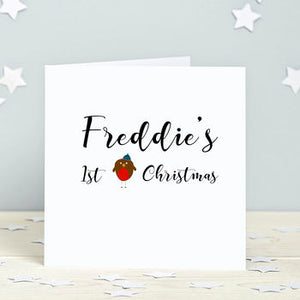 First Christmas Robin Card