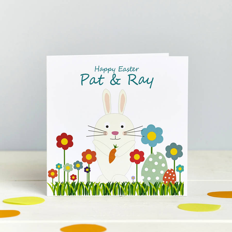 Personalised Bunny Pom Pom Tail Card