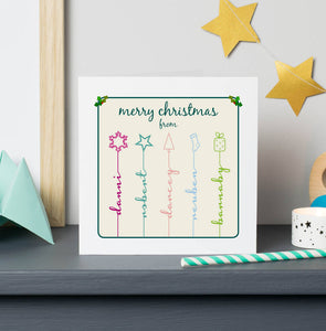 Christmas symbol icon stem cards