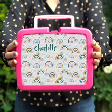 Personalised Rainbow Retro Lunch Box