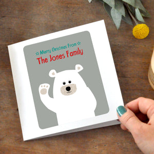 Personalised Polar Bear Card Pack