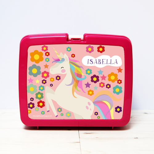 Personalised Unicorn Lunch Box