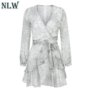 NLW Feminino Party Ruffle Dress