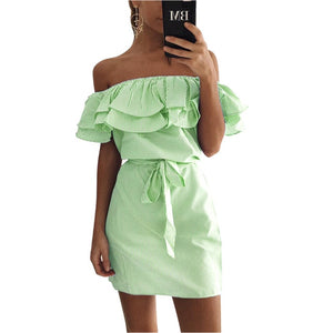 FEST Wrap Chest Open Back Slim Dress