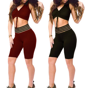 SKIPPY Striped Fitness Leggings High Waist