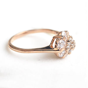 Flower Rose Gold Ring